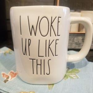 Rae Dunn I woke up like this Mug New Magenta